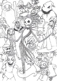 Nightmare Before Christmas Characters Coloring