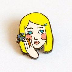 'Smoking Margot' Pin