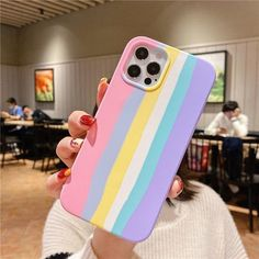 Art Rainbow Official Liquid Silicone Phone Case for iPhone 11 12 Pro MAX X XS XR Mini 7 8 Plus SE 2020 Original Protection Cover|Phone Case & Covers - for iphone 11Pro Max / Pink