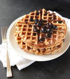 Lemon Blueberry Waffles {Vegan + Gluten Free} - Minimalist Baker