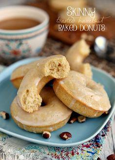 Skinny Toasted Hazelnut Baked Donuts
