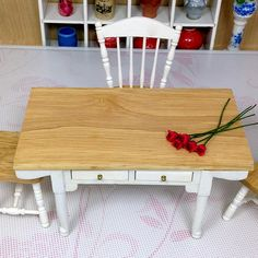 free shipping new arrivals 1/12 scale doll house European log wooden dining table dollhouse miniature furniture-in Furniture Toys from Toys & Hobbies on Aliexpress.com | Alibaba Group