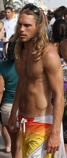 Gorgeous Long Haired blonde Men