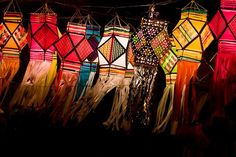 Flying Colors (Ashish T) Tags: street light india abstract art colors festival night stars religious