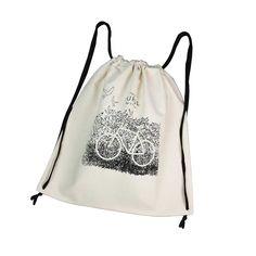 PLECAK WOREK BIKE czarny sznurek #backpack #cotton