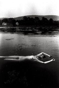 somnambulist, 1970 • ralph gibson   skinny dip   nude   swim   lake   peaceful   rest   float   devine