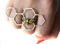 Sterling Silver Honey Knuckles II. $98.00, via Etsy. I can see @Emily Magnuson wearing this ring!