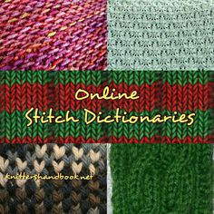 Need stitch inspiration? Free online knitting stitch dictionaries