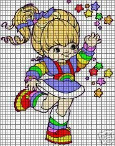 rainbow bright cross stitch | Rainbow Brite Stars Crochet Pattern