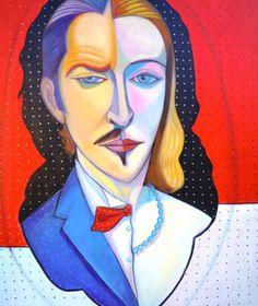 """PASQUALE VINCIGUERRA """"Arte Ibrida"""" - painting - oil on canvas"""