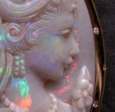 Carved Australian Opal Cameo