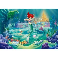 Underwater Castle Backdrop Children Little Mermaid Birthday Party Banner Backdrops Baby Shower Photo The Little Mermaid Poster, Little Mermaid Wallpaper, Mermaid Wallpapers, Ariel The Little Mermaid, Cartoon Wallpaper, Wallpaper Pictures, Wallpaper Backgrounds, Castle Backdrop, Banner Backdrop