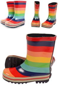 rainbow boots; great kids clothing blog