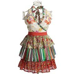 "Wow, we've come along way from the standard apron - ""cooking dress"" as my daughter used to call it. Isn't this adorable?"