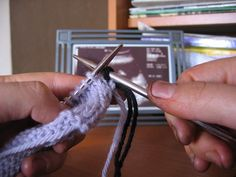 cool way to weave in ends while you knit!