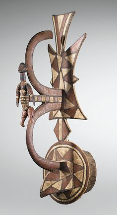 Africa | Mask from the Gurunsi people of Burkina Faso | Wood and pigment | ca. 1970
