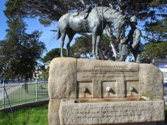 The Horse Memorial in Port Elizabeth, South Africa honours horses killed in the Boer War of The inscription highlights that a nation may be great if it demonstrates justice and compassion. African States, Port Elizabeth, Inner World, Over The Hill, Military History, Wild Animals, Far Away, Homeland, Continents