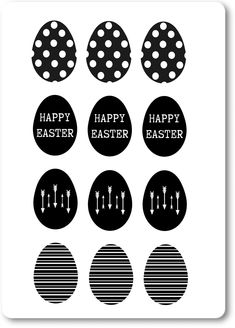 Ostern in schwarz-weiß {Free Printable} – Create Something On Easter Easter Printables, Printable Crafts, Free Printables, Diy Store, Diy Easter Decorations, Print Templates, Easter Crafts, Kids Crafts, Craft Gifts