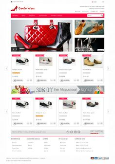 Sandal, OpenCart Responsive Men Womens Shoes & Bags The by Premium Themes, via Behance Website Web, Your Website, E Commerce, Web Design, Shoe Bag, Sandals, Amazing, Behance, Templates