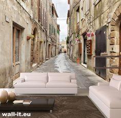Fototapeta do pokoju ulica. http://www.wall-it.eu/product/photowallpapers/starauliczka/old%20street%20italy%20wallpaper%20mural%20fototapeta%20fototapety3d.jpg #fototapeta #fototapety #mural #murals #aranzacja #ulica #street #uliczka #uliczki
