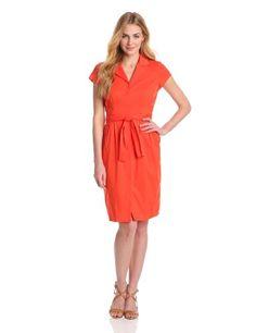 Anne Klein Women's Wrap Shirt Dress #workdresses