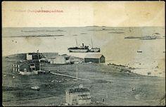 "D/S ""NAUMA"". Identifisert båt på reden ved Hellem Damps.exp. Nes i Fosen. Postg. 1914"