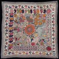 Kantha (Embroidered Quilt) Made in Faridpur District, Bangladesh, Asia or West Bengal, India, Asia Second half of century Textiles Techniques, Embroidery Techniques, Embroidery Stitches, Craft Museum, Embroidered Quilts, Philadelphia Museum Of Art, Kantha Stitch, Thread Art, Indian Embroidery