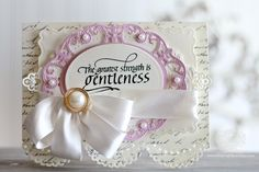 Card Making Ideas by Becca Feeken using Quietfire Design - The Greatest Strength, Spellbinders Graceful Scallops, Spellbinders Labels 29, Spellbinders Victorian Bow, Spellbinders Label 55 Decorative Element, Spellbinders Classic Ovals SM - see full supply list at www.amazingpapergrace.com