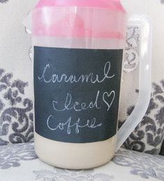 Caramel Iced coffee made with almond milk and caramel coffee creamer.