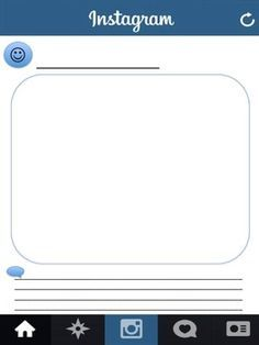 Blank Instagram Template. I had students use this to create ...