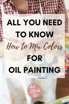 This was so great for learning more about how to mix colors with my oil paints!! Loved the color wheel section for how to mix colors charts