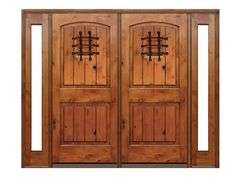 Exterior knotty alder doors but without side lites Hinged Patio Doors, Knotty Alder Doors, Wood Exterior Door, Front Entry, Wood Doors, Green Bay, Home Improvement, Arch, New Homes