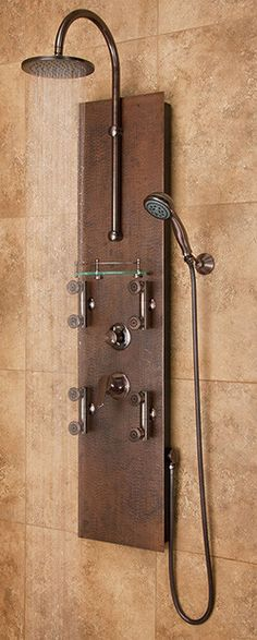 Best price to buy Pulse ShowerSpa Mojave Hand Hammered Copper Shower Panel 1016 online from our Exotic Home Expo website. See our other Pulse products.