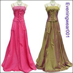 Cherlone Satin Prom Ball Corset Formal Bridesmaid Wedding/Evening Gown Dress #Cherlone #Ballgown #Formal