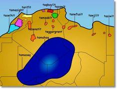 Mapa de Dialectos berberiscos