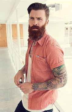 Trimmed on the sides to give length on the bottom. #beardsfashion #BeardsAndTats