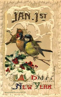 Vintage New Year Card Vintage Happy New Year, Happy New Year Cards, New Year Greetings, Christmas Greetings, Christmas Fun, Holiday Greeting Cards, Vintage Greeting Cards, Vintage Christmas Cards, Xmas Cards
