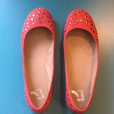 Aloise Studded Flats Red Studded Flats. Seldom Worn. Good Condition. Original Box. Super Cute But Too Small For Me! Man Made Materials. Report Footwear Shoes Flats & Loafers