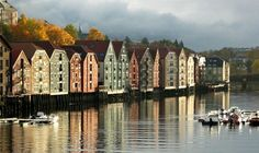 Houses along one of Trondheim canals, Norway Beautiful Places To Visit, Beautiful World, Amazing Places, Places Around The World, Around The Worlds, Places To Travel, Places To Go, Norway Winter, Trondheim Norway
