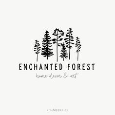 Forest logo - Black logo design - Simple Logo - Business logo - Pre made logo design - Tree forest logo - Pine tree logo