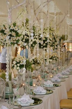 Whites & greens - head table