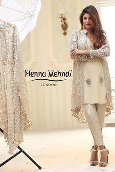 Buy Pakistani clothes online, salwar kameez, Indian dresses, kurtis, trousers and leggings by Henna Mehndi. Pakistani Fashion Party Wear, Pakistani Wedding Dresses, Pakistani Dress Design, Nikkah Dress, Pakistani Outfits, Indian Outfits, Indian Fashion, Stylish Dress Designs, Stylish Dresses