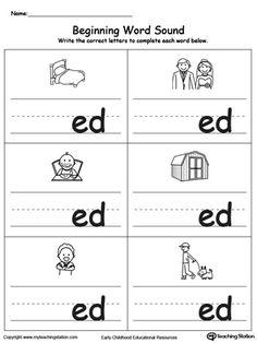 Beginning Word Sound: ED Words