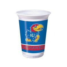 20 oz Printed Plastic Cups Univ of Kansas/Case of 96