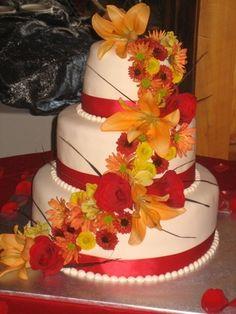 fall wedding cake by coleyscakes.com