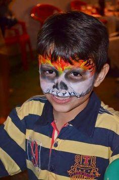 Folia Festa: Pintura facial Motoqueiro Fantasma