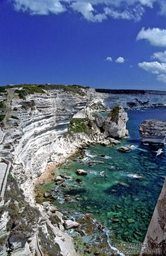 Bonifacio Coast, Corsica  Somewhere on the top of these cliffs, my husband proposed to me.