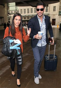 Georgia May Foote leaving Broadcasting House with dance partner Giovanni Pernice in London, England on December 17, 2015, wearing a Topshop 70's Silk Shirt http://api.shopstyle.com/action/apiVisitRetailer?id=497043054&pid=uid7729-3100527-84. #style #celebstyle