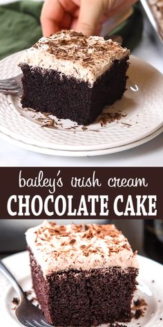 This Best Ever Bailey's Irish Cream Chocolate Cake is the perfectly moist and delicious, infused with Bailey's Irish Cream and topped with a fluffy sweet Irish Cream Buttercream Frosting and shaved chocolate! Delicious Cake Recipes, Cupcake Recipes, Yummy Cakes, Baking Recipes, Cupcake Cakes, Dessert Recipes, Easy Desserts To Bake, Irish Food Recipes, Sweet Recipes