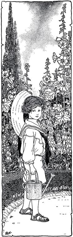 Vintage Garden Boy Image - Charming! - The Graphics Fairy